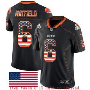 Browns #6 Baker Mayfield USA Flag Jersey